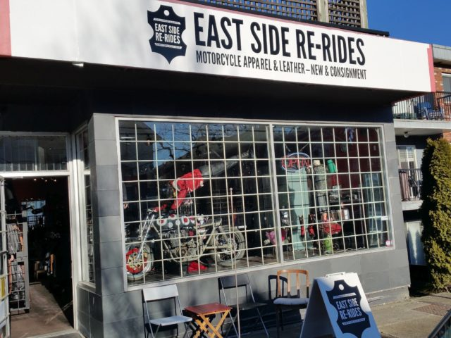 The external storefront of East Side Re-Rides, taken during summer.